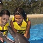 Una amistosa experiencia Programa Interactivo con Delfines.