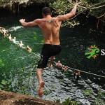 Combo extreme canopy-cenote en la jungla más nado con delfines.