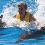 Dolphinaris Cancun programa de nado con delfines delfines: Dolphin-Swim Ride.