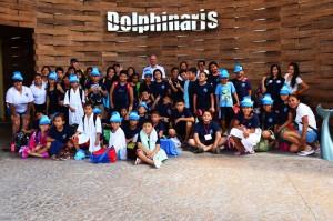 Dolphinaris programa educacional grupos escolares Riviera Maya
