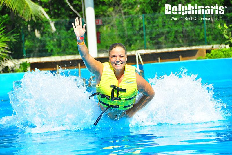 ¡El nado con delfines y el Foot Push te hacen feliz!