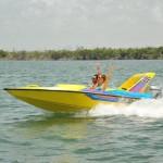 Jungle Tour Aquaworld lancha rápida mas programa nado con delfines.