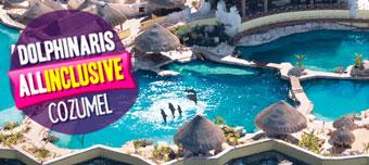 Nado com golfinhos em Cozumel tudo incluído.