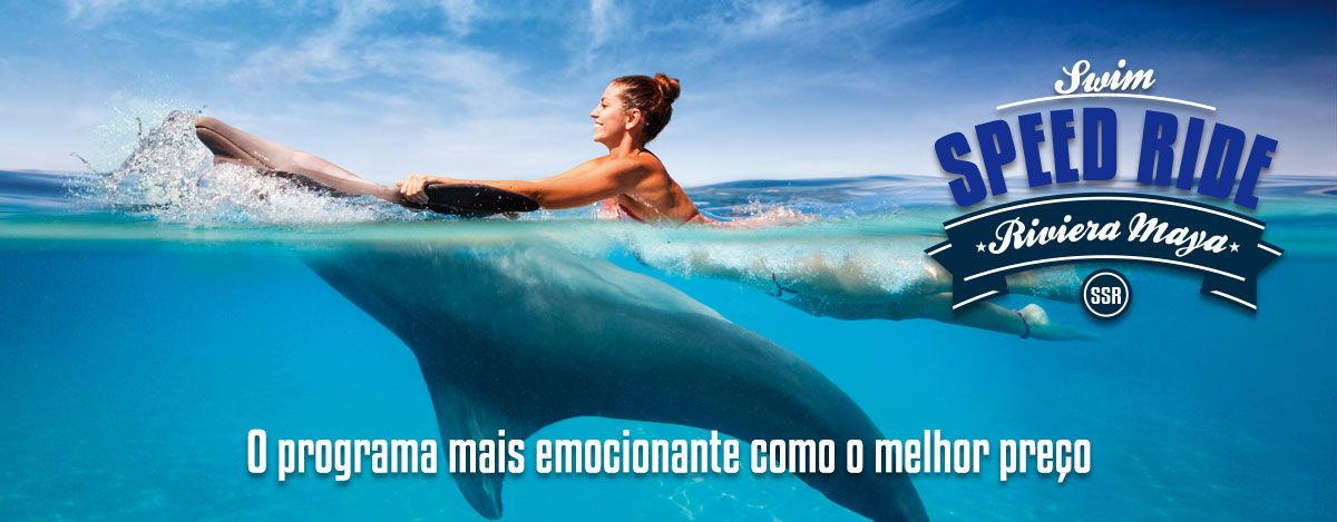 Nadar com golfinhos em Riviera Maya - Nado Carona Velocidade.