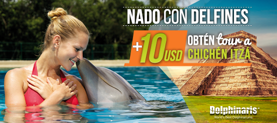 2 Days Tour: A Dolphin Swim Program plus a spectacular tour to Chichen Itza.