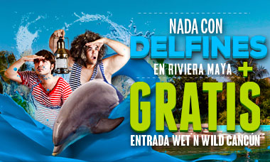 Nadar con delfines en Semana Santa en Riviera Maya Park - Wet'n Wild GRATIS