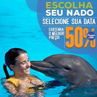 Reserva seu nado com golfinhos com o melhor preco.