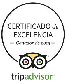 Selvatica certificado excelencia 2015 TripAdvisor