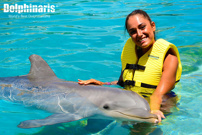 An awesome experience with dolphins at Dolphinaris Cozumel.