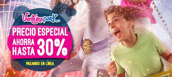 Ahorra hasta 30% en Ventura Park Cancún. Parque acuatico y de diversiones.