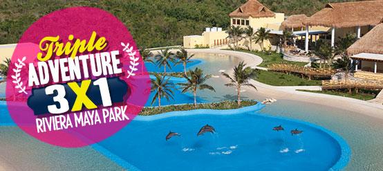 Dolphin Swim Deals - Triple Adventure Playa del Carmen - Riviera Maya Park