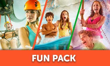 Promoción Mexicanos entrada a Ventura Park Cancún - Fun Pack