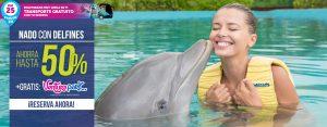 Descuento en nado con delfines Cancún y Riviera Maya