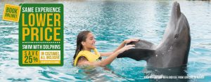 Lower price on your dolphin swim experience at Dolphinaris Cozumel with All Inclusive