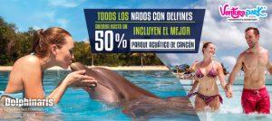 Todos los nados con delfines incluyen Wet'n Wild en Ventura Park el mejor parque acuático de Cancún