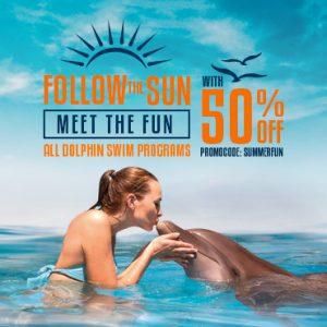 Summer deas at dolphinaris. Swim with dolphins in Cancun, Riviera Maya, Tulum & Cozumel