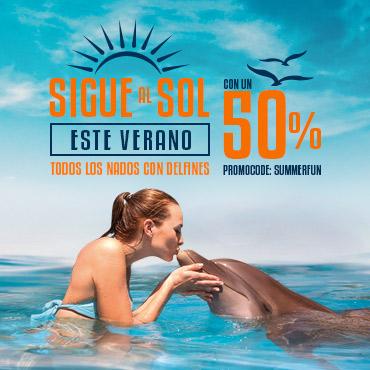 Descuentos de Verano - Nadar con delfines en Cancún, Riviera Maya, Tulum y Cozumel.