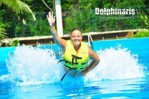 Foot Push en Dolphinaris Riviera Maya Park