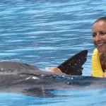 Aventura Tripla programa nado golfinhos em Riviera Maya Mexico - dorsal ride.