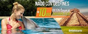 Descuento en nado con delfines Cancun y Riviera Maya combo con Chichen Itza.