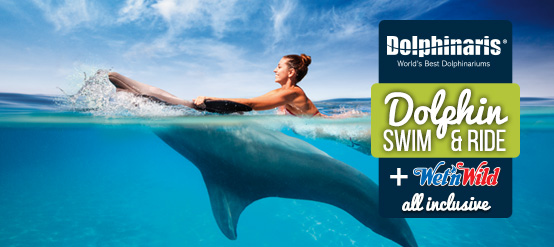 A great discount in your swim with dolphins plus unlimited meals and non alcoholic drinks.