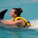 Dolphin Trainer Program Cozumel - Belly ride.