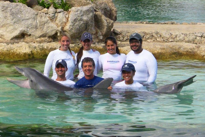Dolphinaris AQUAVET III entrenamiento Cozumel México