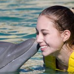 The Dolphins Kiss at Dolphinaris
