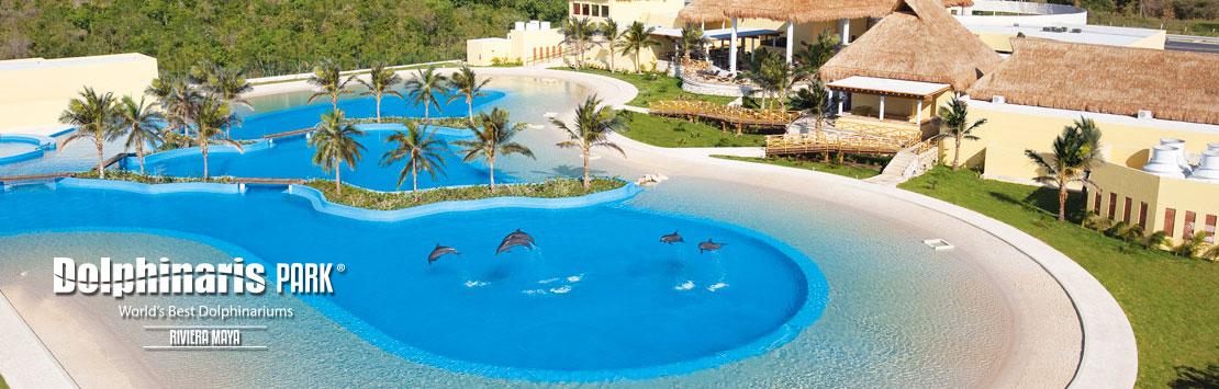 Nadar con delfines en Dolphinaris Riviera Maya Park México