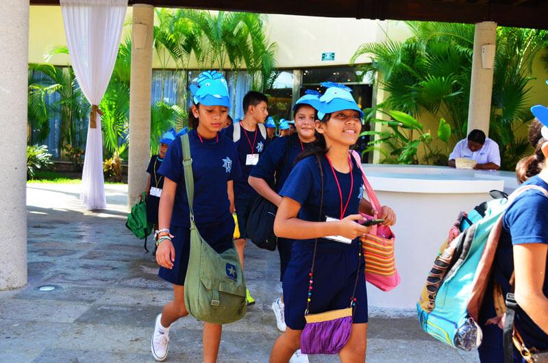 Dolphinaris programa educacional grupos escolares instalaciones  Riviera Maya
