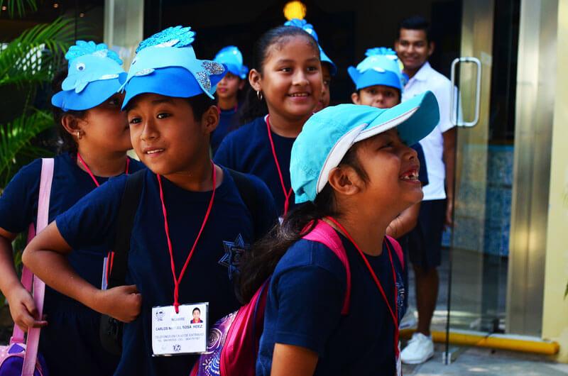 Dolphinaris programa educacional tours guiados grupos escuelas Riviera Maya