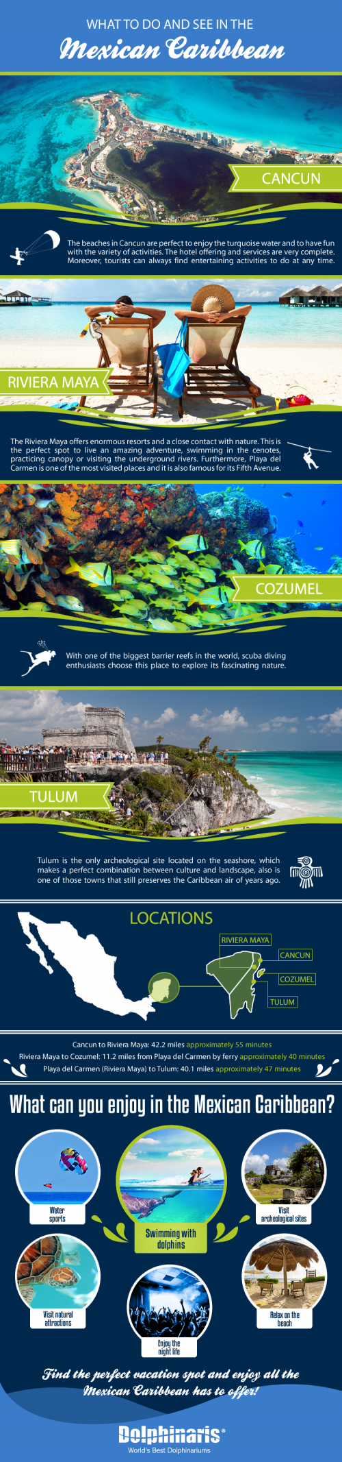 The Mexican Caribbean is full of wonders and the best places for your holidays