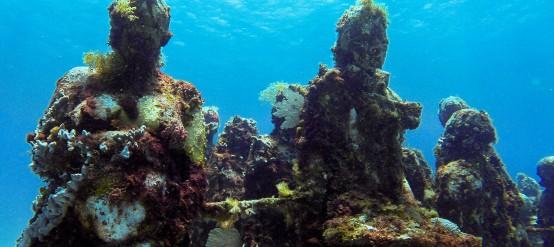 Cancun underwater museum scultures
