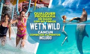 Nadar com golfinhos mais Wet'n Wild Cancun parque acuatico