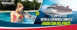 Nadar con delfines en Cozumel México - Carnival Cruise line.
