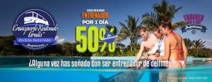 Nado con delfines en Cancún y Riviera Maya, descuento en Entrenador por un día.