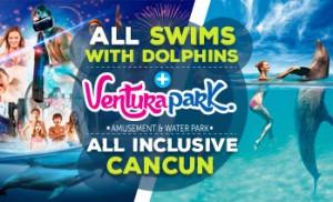 Nado com golfinhos mais combo Ventura Park Cancun com Tudo Incluido