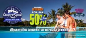 Programa de nado con delfines - Entrenador por un día en Dolphinaris Cancún, Riviera Maya y Tulum.