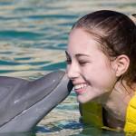 Programa Interativo - Beijo com Golfinho.