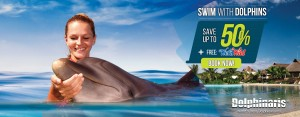 Get the best deal swim with dolphins plus free Wet'n Wild Cancun