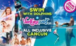 Nadar com golfinhos em Cancun mais Ventura Park com Tudo incluido