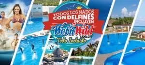 Nada con delfines más Wet'n Wild Cancún Gratis