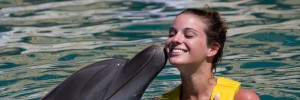 Dolphinaris Trainer For a Day program - Dolphin Kiss