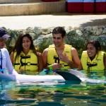 Interação com golfinhos em Cozumel
