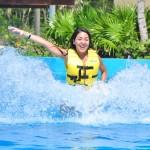 Nadando com golfinhos, grande estilo!