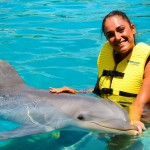 Swim with dolphins at Cozumel