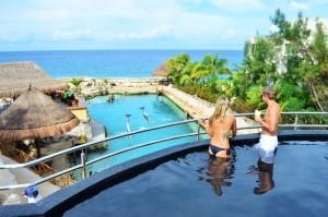 The Sundeck Lounge Dolphinaris Cozumel - Vista preferencial al delfinario
