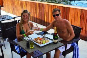 The Sundeck Lounge Dolphinaris Cozumel - Fusion cuisine mexican and international