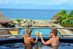 The Sundeck Lounge Dolphinaris Cozumel - Private deck spectacular view to the dolphins