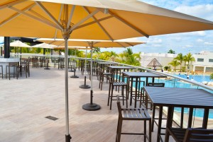 The Sundeck Lounge Dolphinaris Cancun - Private deck preferred view dolphinarium.
